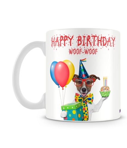 Woof Woof Birthday Mug