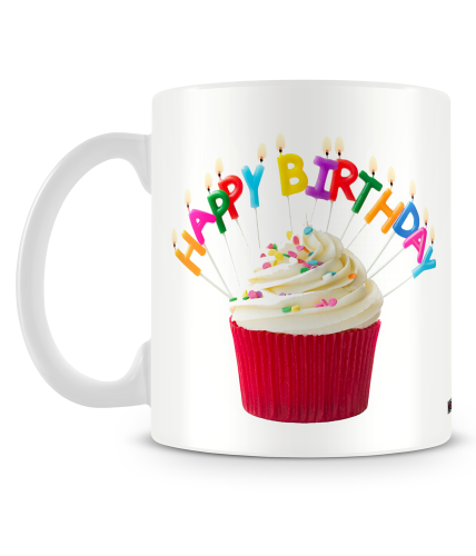 Red Cupcake Birthday Mug