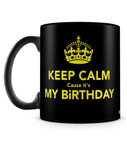 Keep Calm Birthday Mug