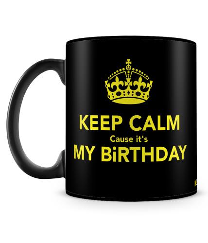 Keep Calm Birthday Mug