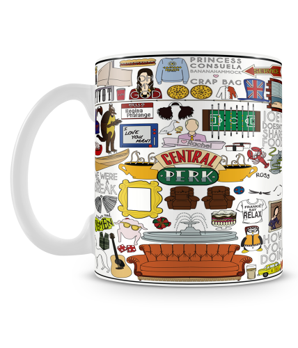 Friends White Theme Mug