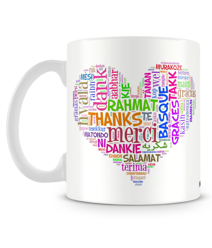Thank You Multi Languages Mug