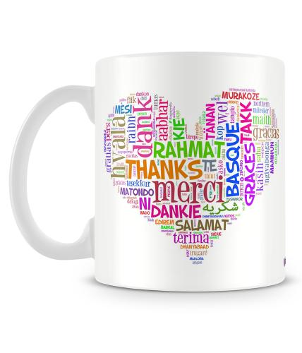 Thank You Multi Languages Mug