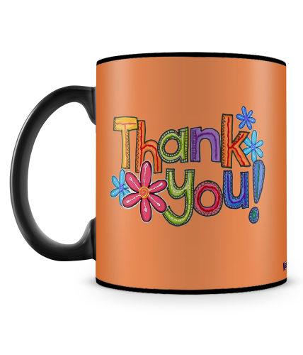 Thank You Orange Theme Mug