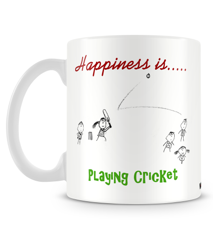 Happiness Is Playing Cricket Mug