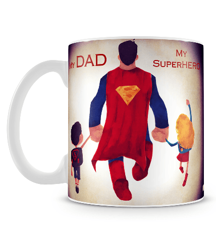 My Dad My Superhero Mug