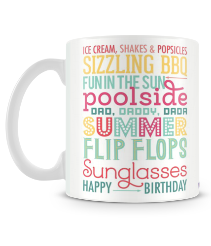 Summer Birthday Mug