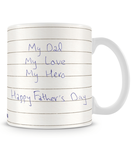 Dad Love Hero Photo Mug