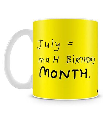 July Equals To Birthday Mug