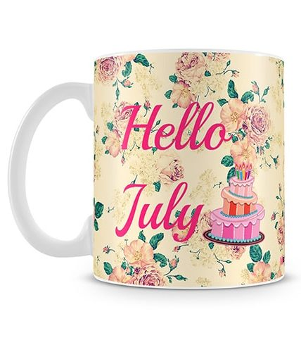 Hello July Birthday Mug