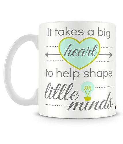 Big Heart Teacher Mug