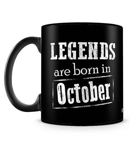Legends Born In October Mug