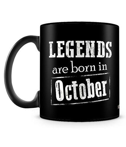 Legends Born In October Mug