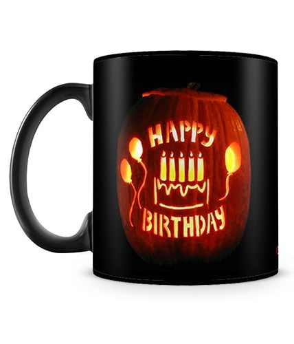 October Birthday Halloween Theme Mug