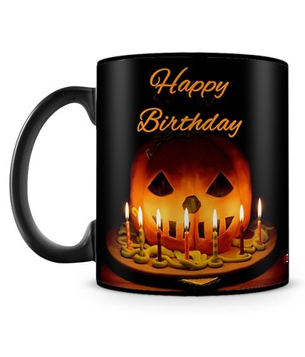 October Birthday Halloween Mug