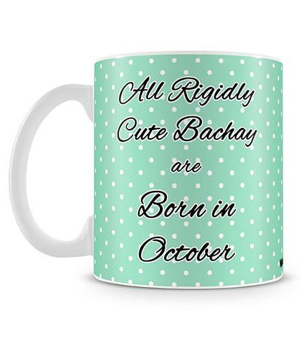 Cute Bachay Born In October Mug