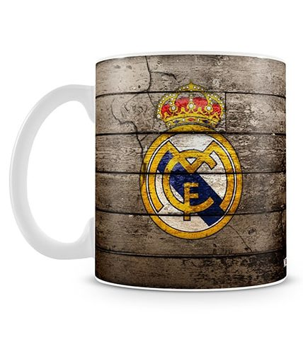 Real Madrid Wooden Theme Mug
