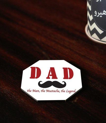 Dad Mustache Coaster