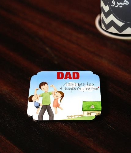 Son's Hero Daughter Love Coaster