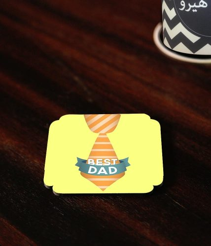 Best Dad Tie Coaster