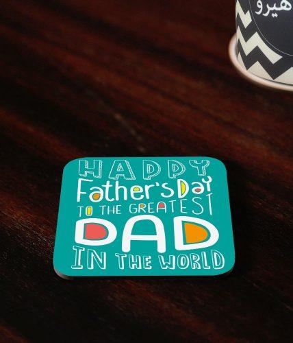 Greatest Dad Coaster