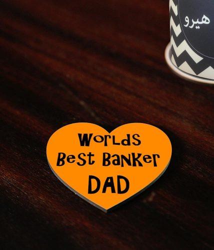Best Banker Dad Coaster