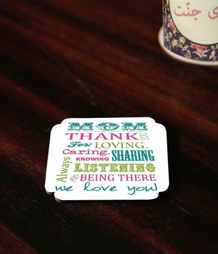 Thank Mom Coaster
