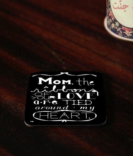 Mom Ribbons Of Love Coaster