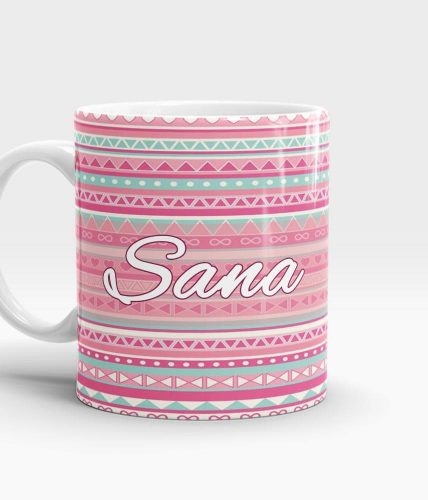 Name Patterned Mug - Customizable