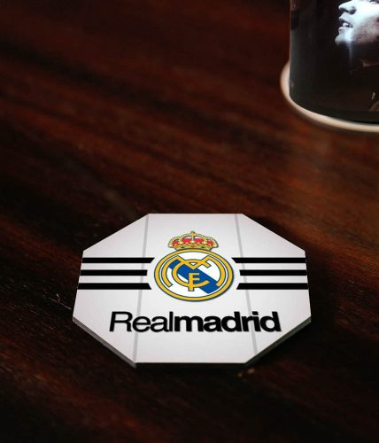Real Madrid Stripes Coaster