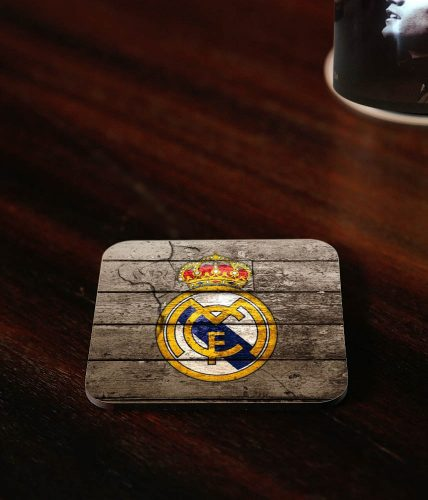 Real Madrid Wooden Coaster