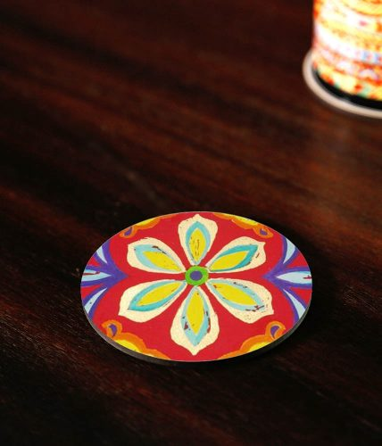 Flower Art Coaster