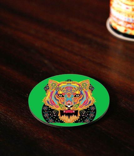 Tiger Art Coaster