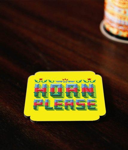Horn Please Coaster