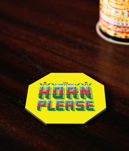 Horn Please Coaster