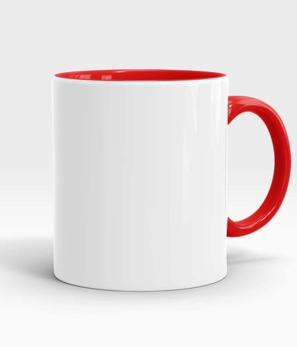 Red color handle mug-min
