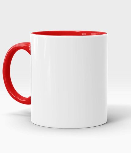 Red Handle & Inner Mug - Customized