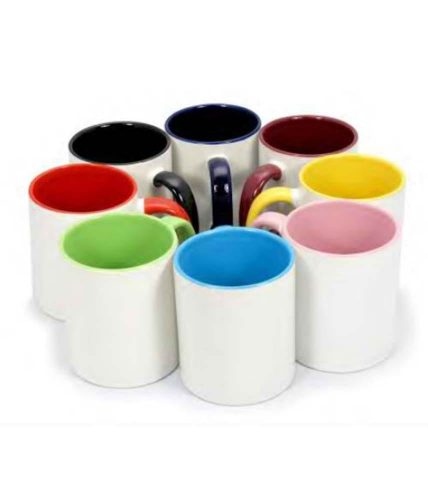 Colored Handle & Inner Mugs