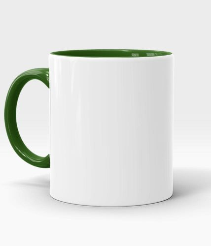 Green Handle & Inner Mug - Customized