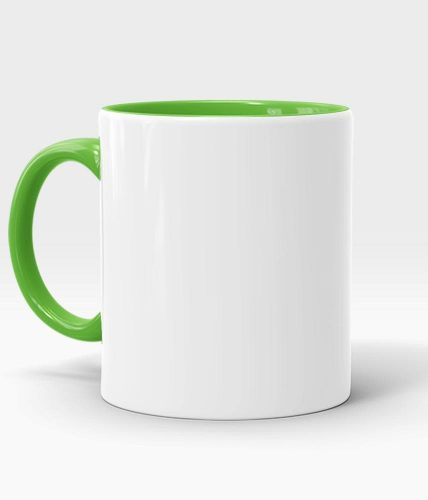 Light Green Handle & Inner Mug - Customized