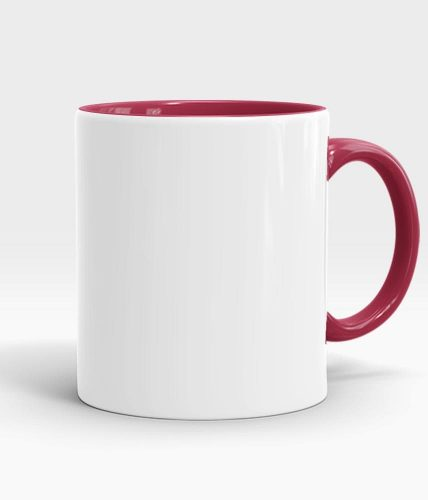 maroon color handle mug-min
