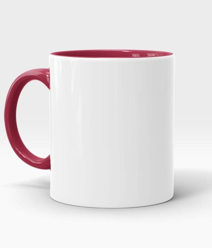 Maroon Handle & Inner Mug - Customized