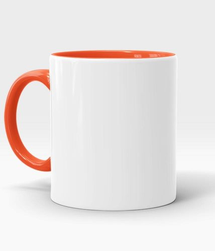 Orange Handle & Inner Mug - Customized