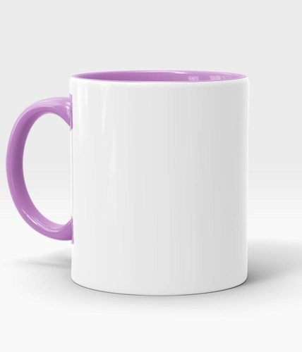 Purple Handle & Inner Mug - Customized