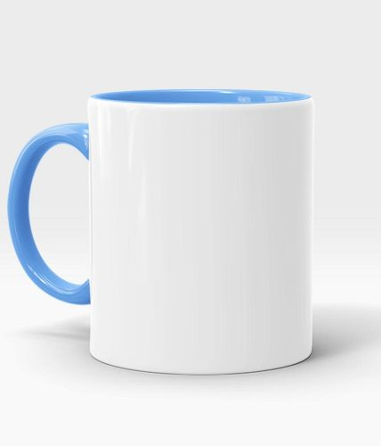 Light Blue Handle & Inner Mug - Customized