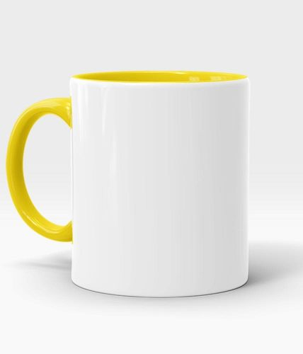 Yellow Handle & Inner Mug - Customized