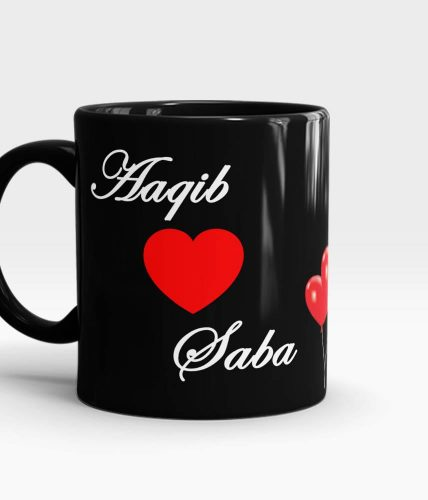 Heart Names Mug - Customizable
