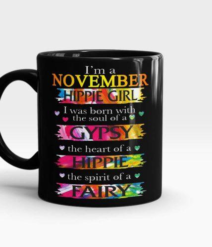 November Hippie Girl Mug