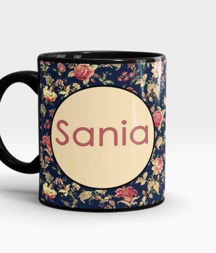 Floral Name Mug - Customizable