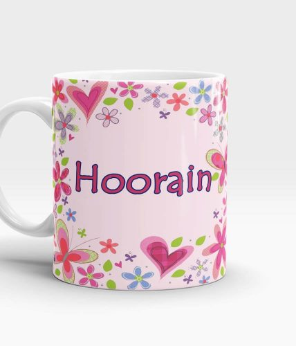 Floral Pink Name Mug - Customizable